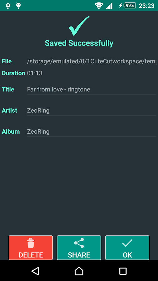 ZeoRing  - Ringtone Editor- screenshot