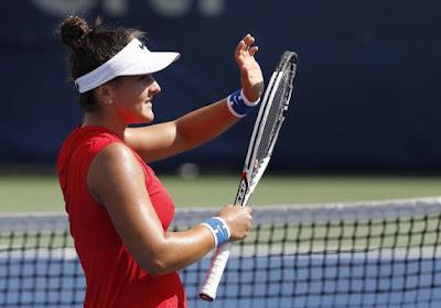Bianca Andreescu had het moeilijk tegen Elise Mertens