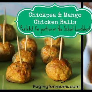 Chickpea & Mango Chicken Balls.