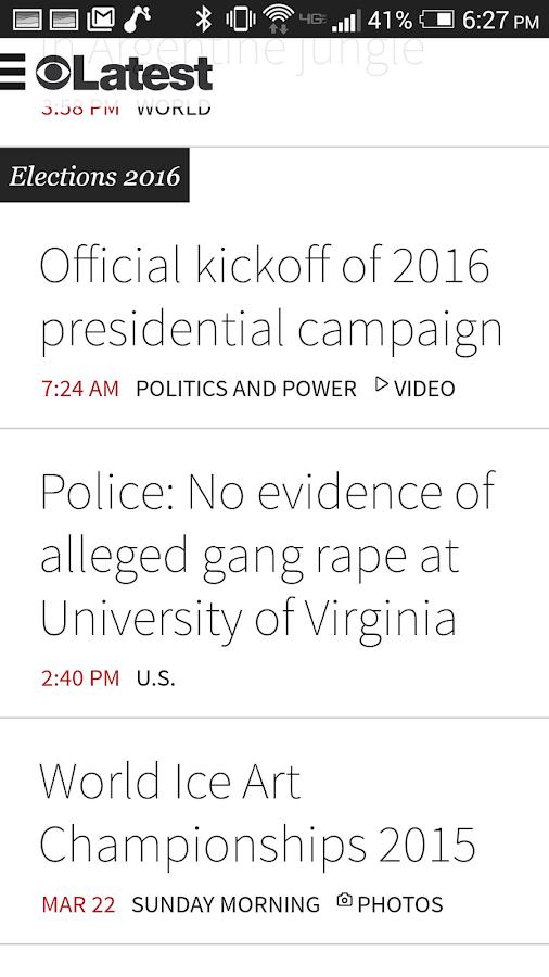 CBS News - screenshot