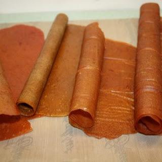 Rhubarb Fruit Leather.
