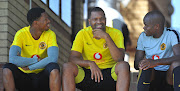 Virgil Vries, Itumeleng Khune and Willard Katsande of Kaizer Chiefs during the Kaizer Chiefs Media Day on the 28 March 2019 at Kaizer Chiefs Village.