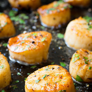 Easy Scallop Scampi.