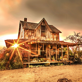 The Ole Wood Homestead by Shelby Snow - Buildings & Architecture Decaying & Abandoned ( wood house, oregon, old homestead )