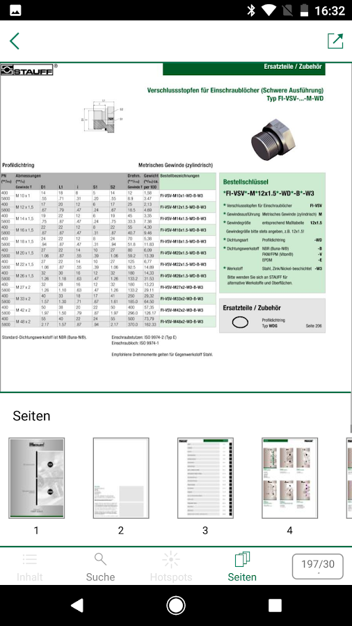 STAUFF Catalogue App- screenshot