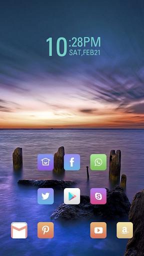 the Sea Sunset theme