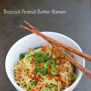 Broccoli Peanut Butter Ramen.