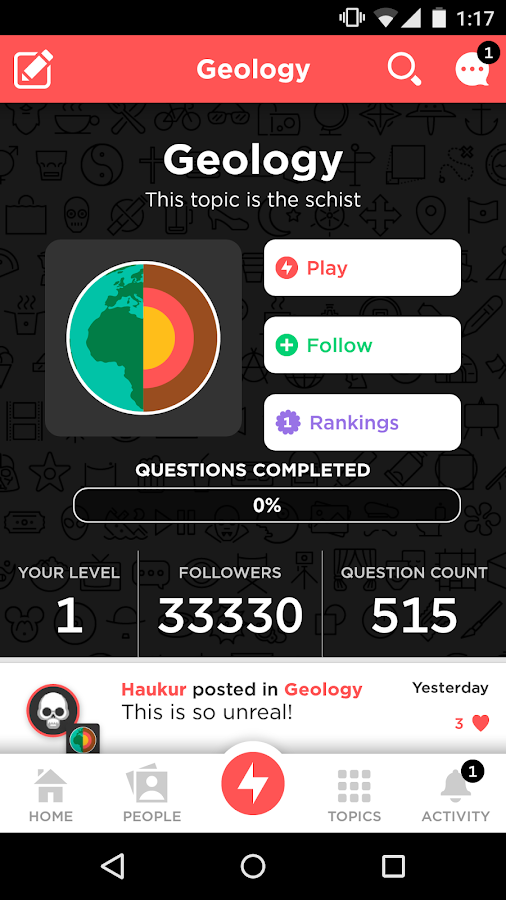 QuizUp: screenshot