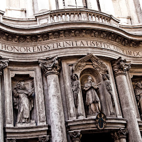 San Carlo alle Quattro Fontane by Antony Sendall - Buildings & Architecture Places of Worship ( church, four fountains, charles, 4 fountains, saint, francesco, ecclesiastical, st., rome, quattro fiumi, borromini, italy, san carlo alle quattro fontane, baroque architecture )