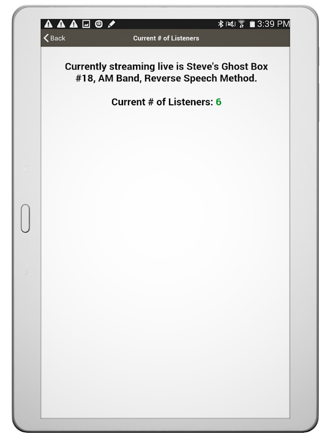 Live Ghost Box by Steve Hultay- screenshot