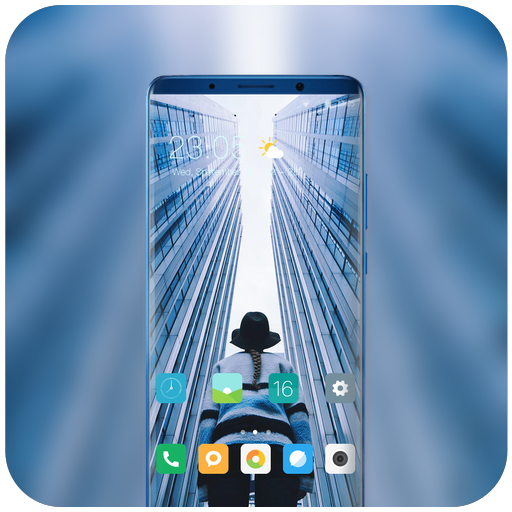 Theme for high buildings city wallpaper icon