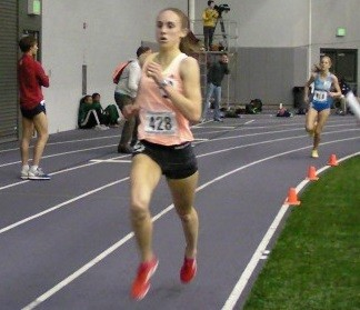Alexa Efraimson in Seattle for the 3,000 meters