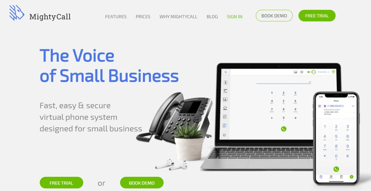 MightyCall is a Virtual Business Phone Solutions