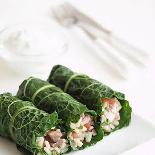 Stuffed Kale Rolls.