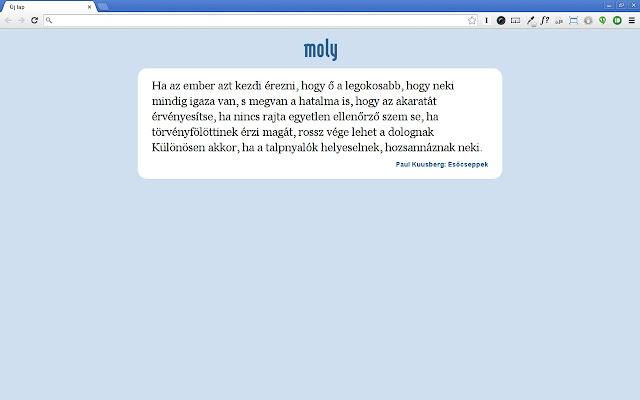 Moly-idézet