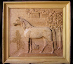Photo: Caballo y saltamontes. Tamaño: 68 x 72 cm. (57 x 61 cm. sin marco). Talla en madera. Woodcarving.  Para leer algo más en relación con esta obra ir al blog: http://tallaenmadera-woodcarving-esculturas.blogspot.com.es/2014/04/caballo-y-saltamontes.html