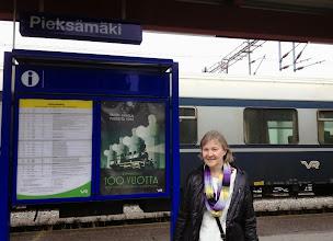 Photo: Joensuuhun voi myös mennä Pieksämäen kautta - takana taajamajuna, jolla matkustimme välin Pieksämäki - Joensuu