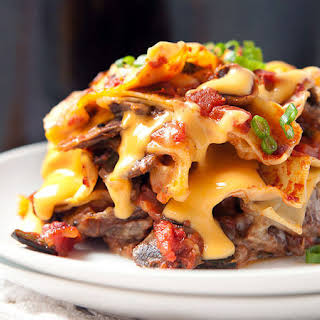 Slow-Cooker Cheesesteak Lasagna.