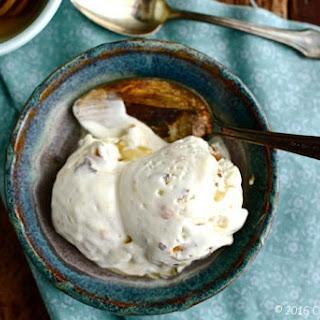 No-Churn Honey Vanilla & Butterfinger Crunch Ice Cream