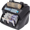 Money counting machine icon