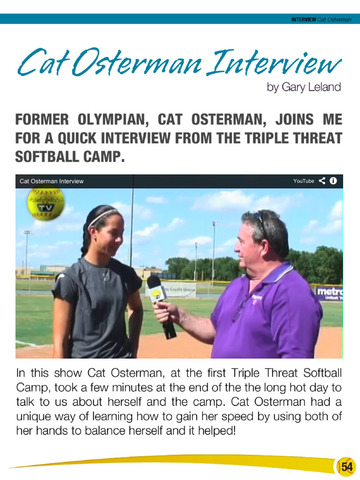 Fastpitch Softball Magazine issue 11 Video Interview