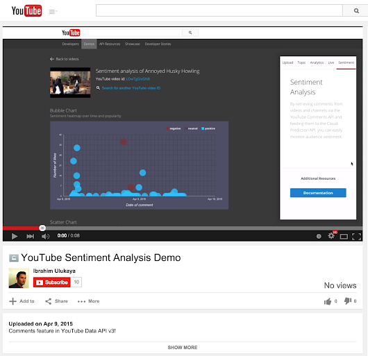 Manage comments with the YouTube Data API v3