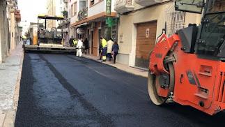 Arreglo reciente de la calle Príncipe de Asturias.