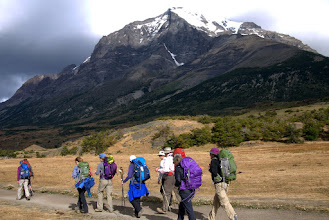 Photo: Day 2, Zephyr Trekkers start a 4-hour hike to (expected to be crowded) Los Cuernos Refugio
