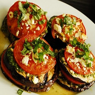 Eggplants With Mushrooms.