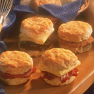 Drop Scones with Cheddar Cheese, Bacon and Sausage