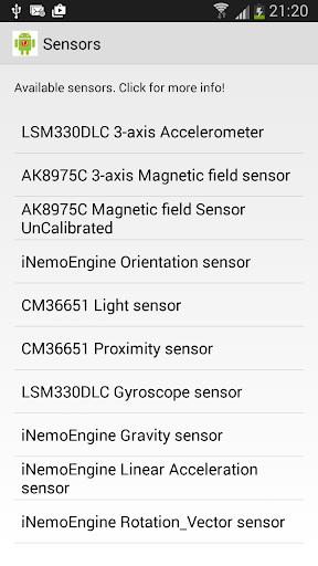 Check my sensors