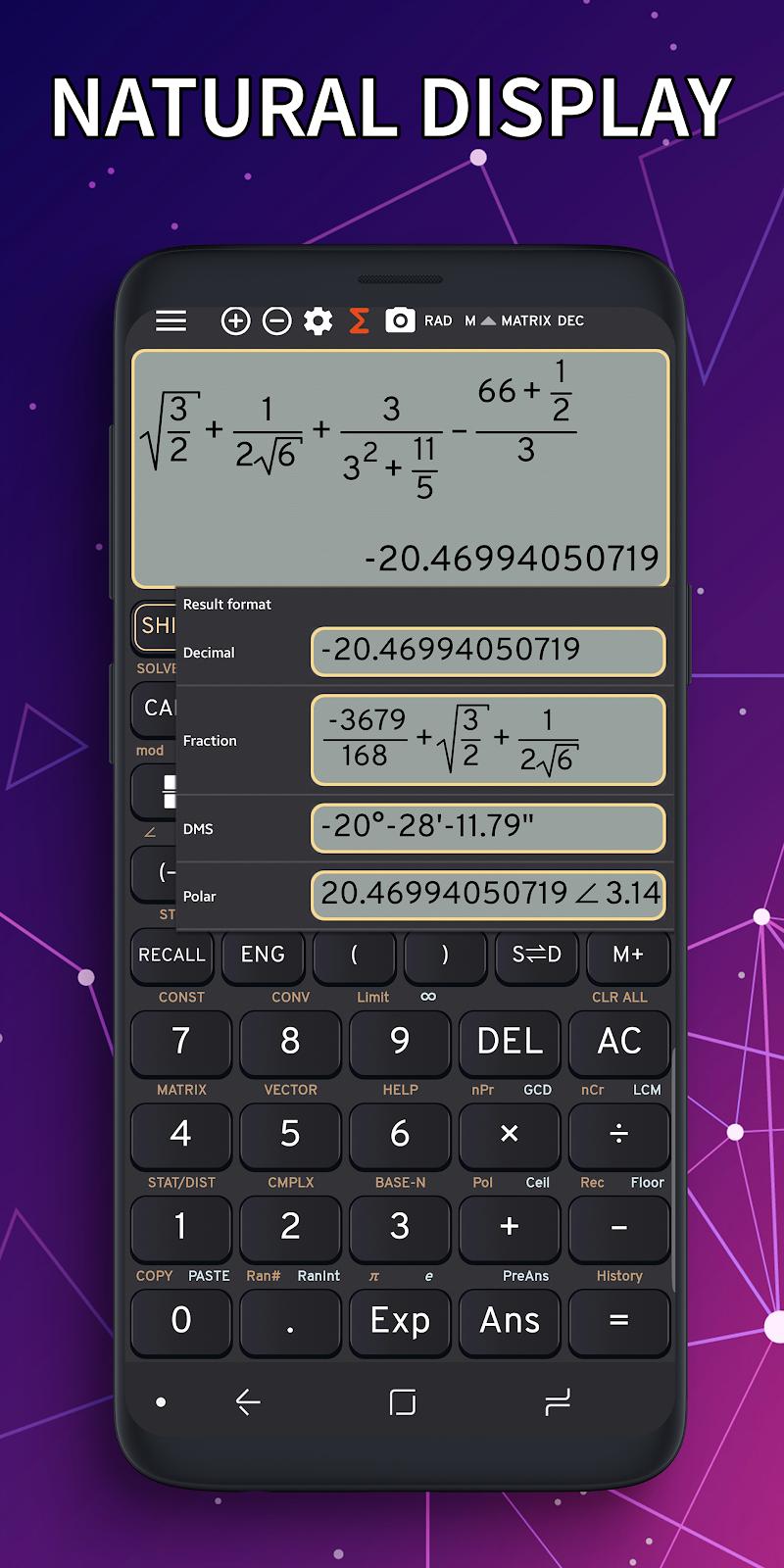 Math Camera FX Calculator 991 ES Emulator 991 EX v3.9.7-beta [Premium]