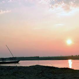 RISING SUN by Kapil Tirthankar Majumder - Uncategorized All Uncategorized ( rivers, sunrise, view, landscape, colors,  )