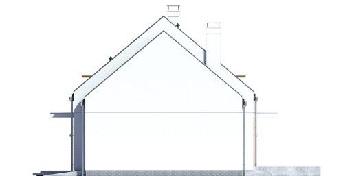 Sowa 15 z garażem - Elewacja prawa
