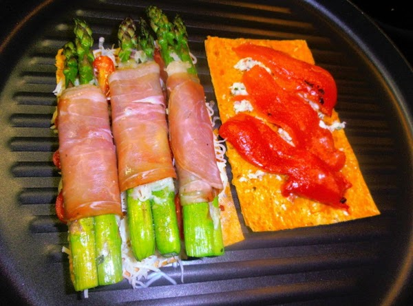 Place both sides of wrap down on a heated grill pan.  Cook until...