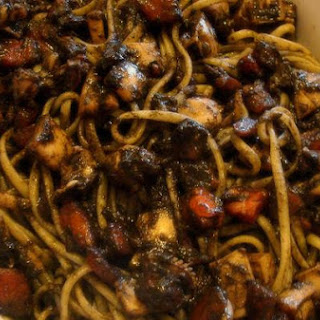 Linguine In Cuttlefish Ink Sauce