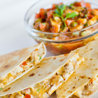 Three-Cheese Chicken Quesadillas.