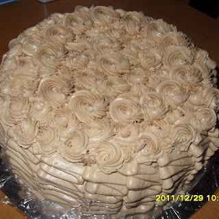 Mocha cake just like Goldilocks!