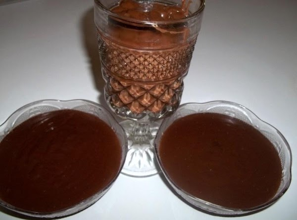 Pour into individual serving dishes or pre baked pie shell.