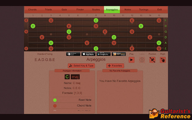 Guitarist\'s Reference - Chrome Web Store