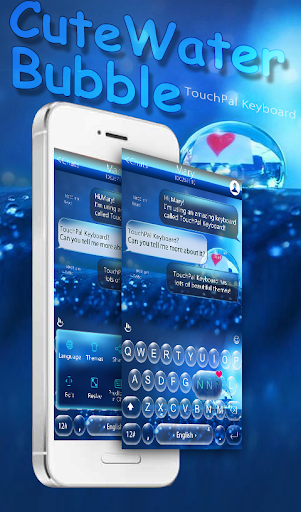 Water Bubble Keyboard Theme