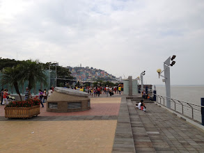 Photo: Guayaquil River and hillside town