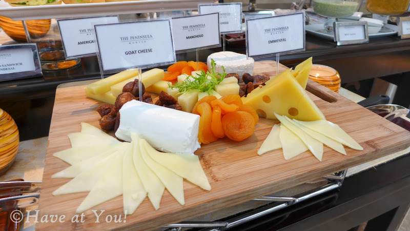 The Lobby's cheese platter