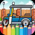 Car Coloring Pittura Disegno icon