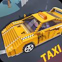 Blocky Taxi Driver: City Rush icon