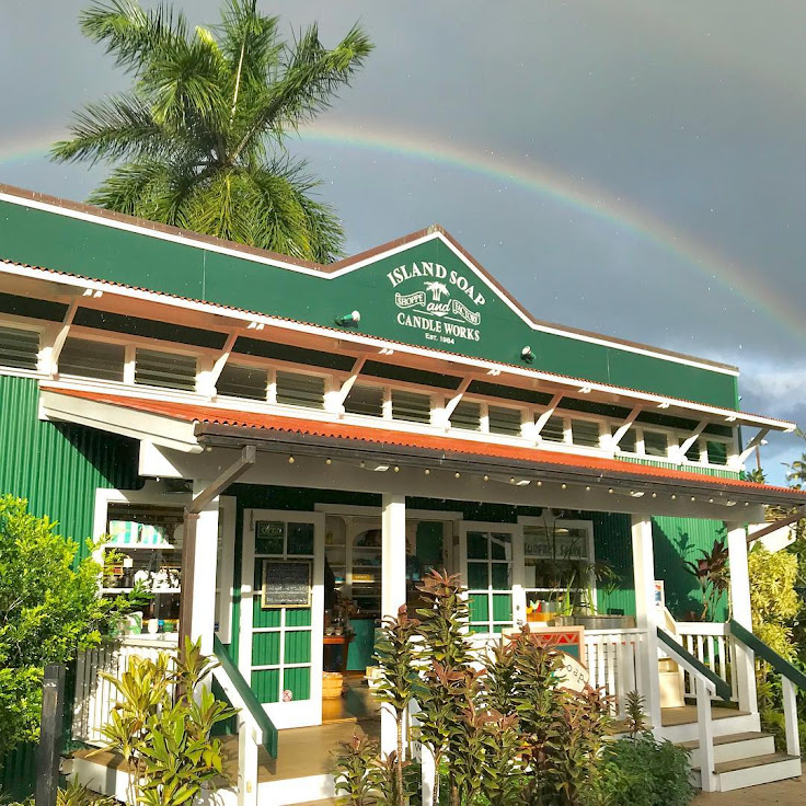 A rainbow above the shop. Photo: Island Soap Co.