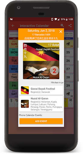 Calendar2U: Malaysia Calendar 2019 - 2021 HD 2.6.8 screenshots 1