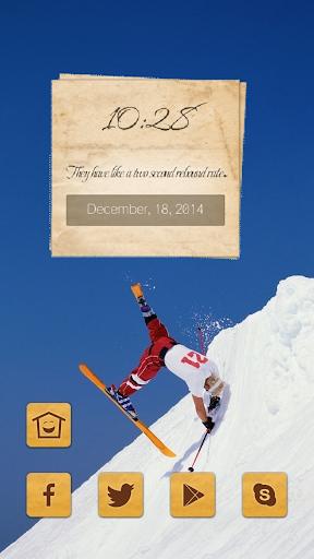 Ski stunt man