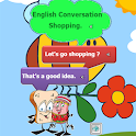 English conversation in shop icon
