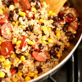 Skillet Sausage and Rice.